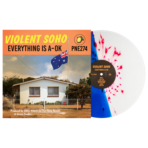 'Everything is A-OK' LP (Half Clear / Half Blue w/ Yellow Splatter)