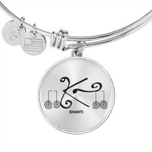 Load image into Gallery viewer, 'Shanti' Reiki Protection Symbol Bangle