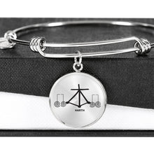 Load image into Gallery viewer, 'Harth' Reiki Protection Symbol Bangle