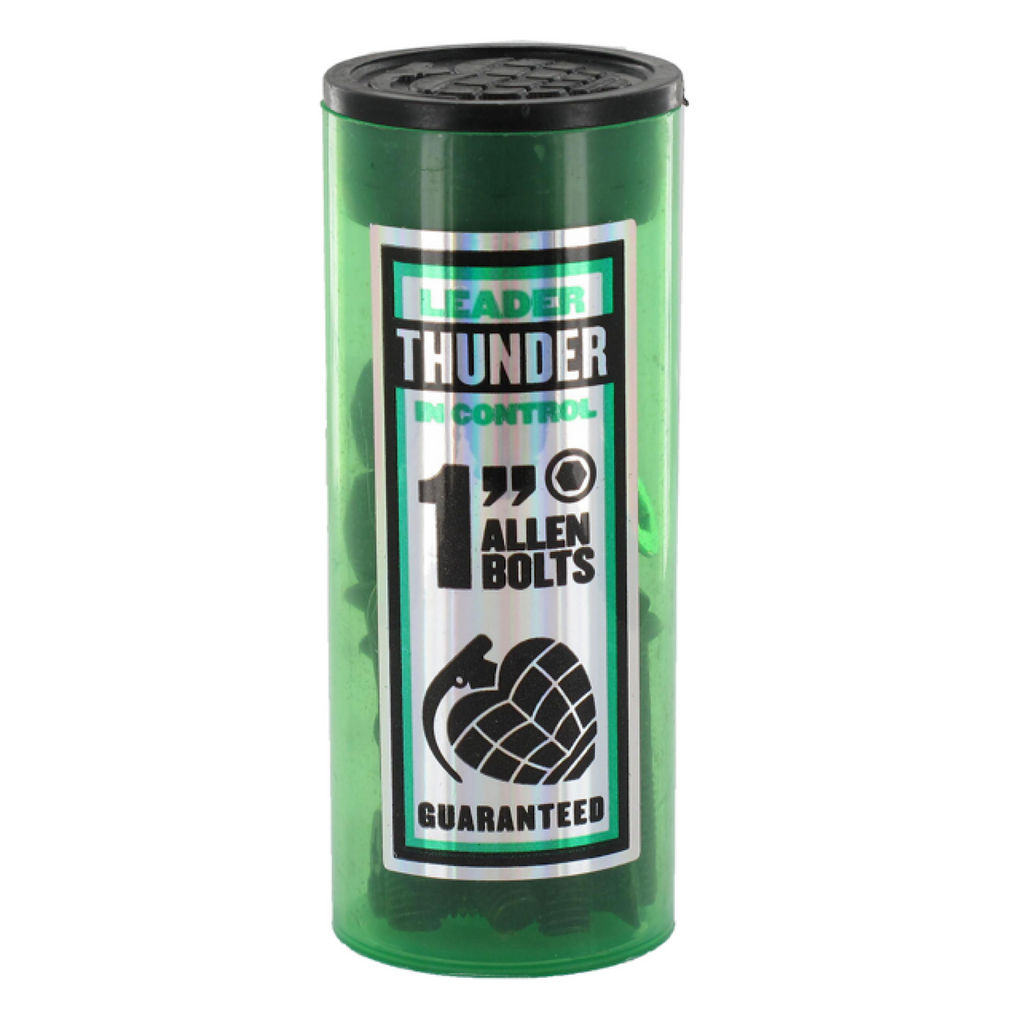 "Thunder - Bolts Allen Black/Green - 1"" Allen"