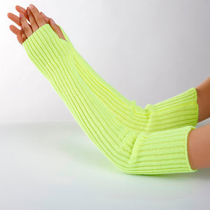 Women's Knitted Wool Arm Warmers