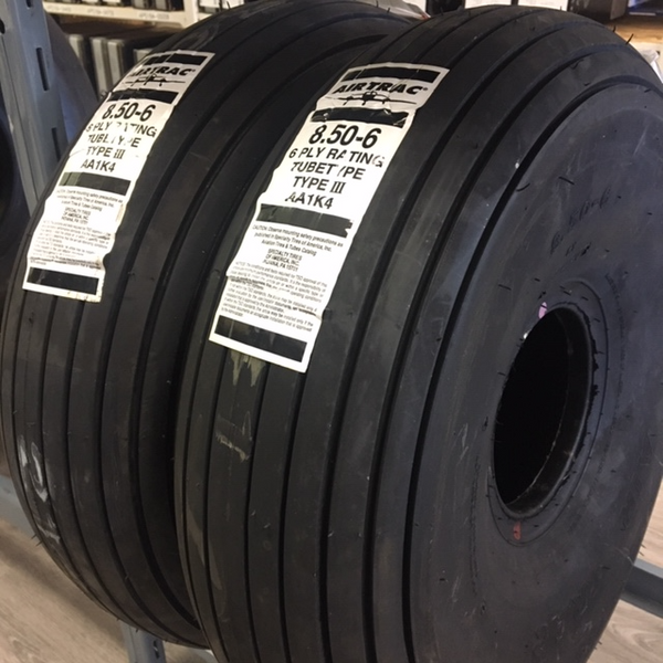 30610 (AA1K4) Air Trac Tire, Tube Type, 850-6 6Ply