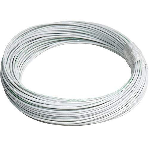 M22759/16-22-9 Extruded ETFE Tefzel Wire, 22 AWG, White, Sold Per Ft