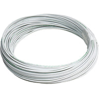 M22759/16-16-9 Extruded ETFE Tefzel Wire, 16 AWG, White, Sold Per Ft