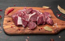 Load image into Gallery viewer, Hormone Free Natural Grazed Fresh Mutton Shoulder Boneless Cubes - 250 gms