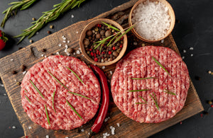 Fresh Premium Grass Fed Beef Burgers (2 Pieces) - 227gms