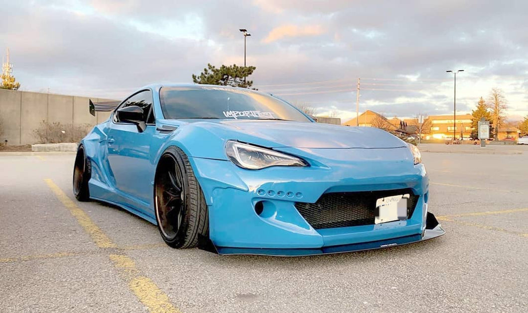 V2 Rocket Bunny Splitter for FRS, 86, BRZ with rocket bunny kit