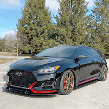 Load image into Gallery viewer, 2019 - 2021 VELOSTER N Front Splitter with Splitter Rods