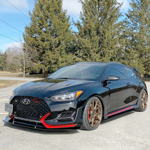 Veloster N Side Splitters 2019 - 20