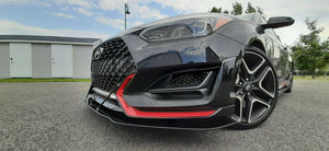 2019 - 2021 VELOSTER N Front Splitter with Splitter Rods