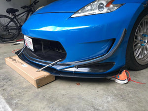 370z amuse front splitter kit with rods