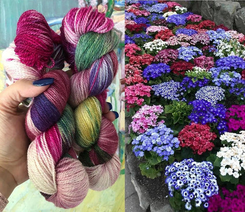 Yarn of the Month - Geranium Garden by Zen Yarn Garden