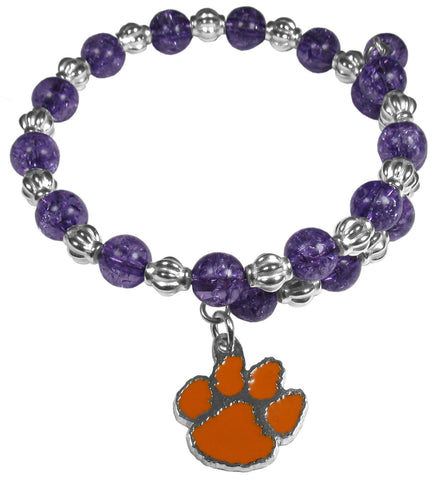 Clemson Beaded Wire Bacelet