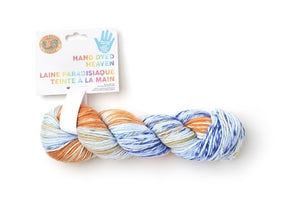 New! Lion Brand Hand Dyed Heaven Yarn: champ - Case Pack Of 3 - Grandpa's Ugly Blanket