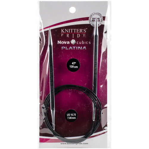 Knitter's Pride-Cubics Platina Fixed Circular Needles 47