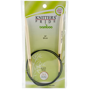 "Knitter's Pride-Bamboo Fixed Circular Needles 32""""-size 10.75-7mm - Grandpa's Ugly Blanket"