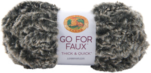 New! Lion Brand Yarn Go For Faux Thick & Quick-mink - Case Pack Of 3 - Grandpa's Ugly Blanket