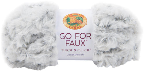 New! Lion Brand Yarn Go For Faux Thick & Quick-chinchilla - Case Pack Of 3 - Grandpa's Ugly Blanket