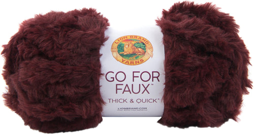 New! Lion Brand Yarn Go For Faux Thick & Quick-red Panda - Case Pack Of 3 - Grandpa's Ugly Blanket