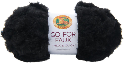 New! Lion Brand Yarn Go For Faux Thick & Quick-black Panther - Case Pack Of 3 - Grandpa's Ugly Blanket