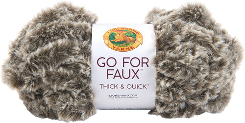 New! Lion Brand Yarn Go For Faux Thick & Quick-chow Chow - Case Pack Of 3 - Grandpa's Ugly Blanket