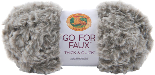 New! Lion Brand Yarn Go For Faux Thick & Quick-husky - Case Pack Of 3 - Grandpa's Ugly Blanket