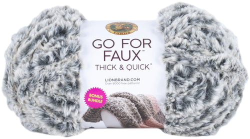 Lion Brand Go For Faux Thick & Quick Bonus Bundle Yarn-Mink - Grandpa's Ugly Blanket