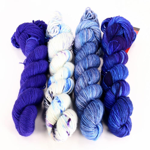 Zen Yarn Garden Gradient Quartet - New Navy (SF) - Grandpa's Ugly Blanket