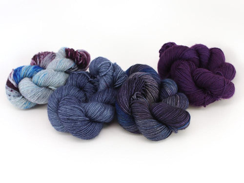Zen Yarn Garden Gradient Quartet - Royal (SF) - Grandpa's Ugly Blanket