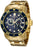 Invicta 0073 Scuba Pro Diver  Chronograph 200M  18k Yellow Gold  Men's Watch