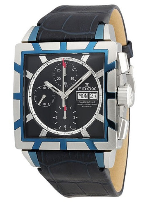 Edox Men's 01108 357B BUIN Classe Royale Automatic Chronograph Watch