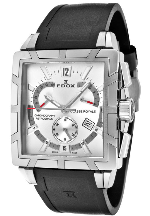 Edox Men's 01504 3 AIN Classe Royale Chronograph Retrograde Watch