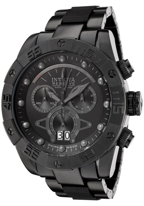 Invicta Men's 0334 Reserve Collection Leviathan II Chronograph Black Ion-Plated Watch