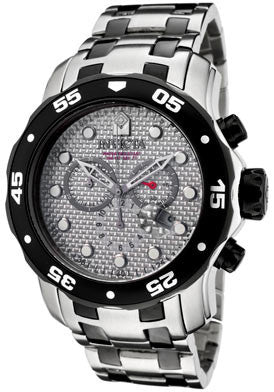 Invicta 0690  Men's Pro Diver Chronograph Silver Carbon Fiber Two Tone