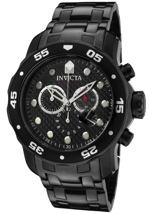 Invicta Men's 0693 Pro Diver Chronograph Gunmetal Stainless Steel Watch