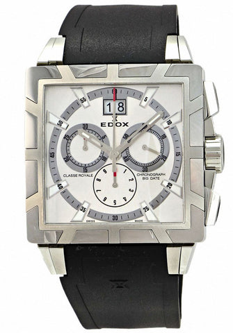 Edox Men's 10013 3 AIN Classe Royale Square Chronograph Watch
