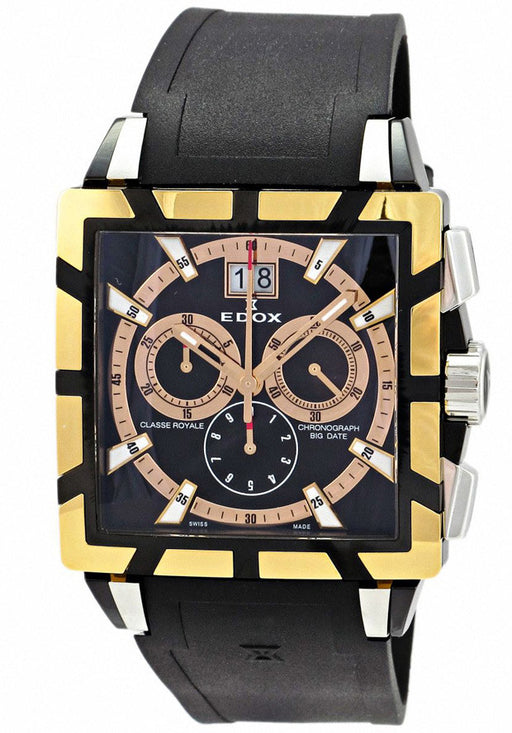 Edox Men's 10013 357RN NIR Chronograph Big Date Classe Royale Watch