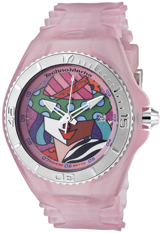 Technomarine 108038 Women's Cruise Britto Afrika Safari Dial Pink Transparent Silicon