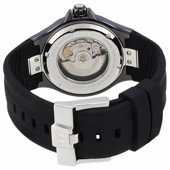 TechnoMarine 110034 Men's Cruise Sport Black Dial Black Silicon