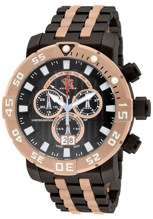 Invicta 14257 Men's Sea Base Ltd. Ed. Chrono Two-Tone SS Black Dial