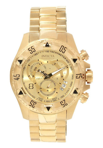 Invicta 14473 Reserve Excursion Swiss Quartz Chronograph All Gold Plated Stainless Steel