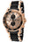 Invicta Men's 1479 Sea Spider Chronograph Rose Dial Black Polyurethane Watch