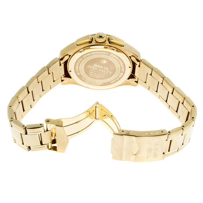 Invicta Men's 1484 Specialty Collection Chronograph Gold Dial