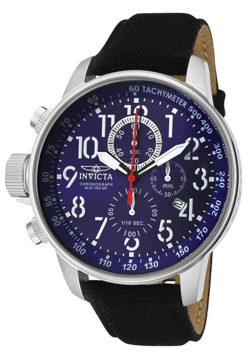 Invicta 1513 Men's Force Chronograph Blue Dial Black Riffle