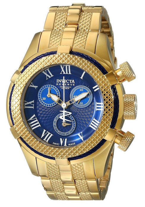 Invicta 17158 Women's Bolt Chronograph 18K Gold Plated Steel Blue Dial