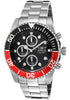 Invicta 1770 Men's Pro Diver Chronograph Black Dial Stainless Steel