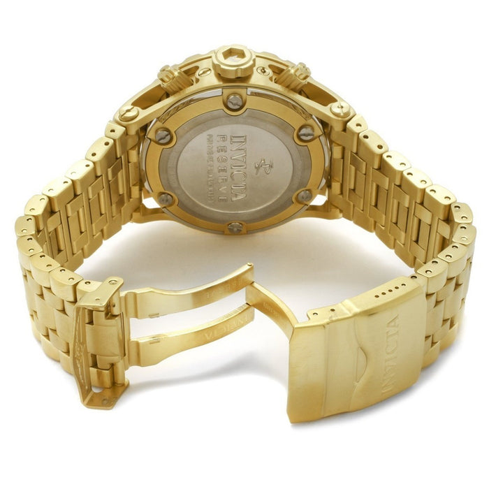 Invicta Men's 6901 Subaqua Reserve Chronograph Gold Dial 18K Gold Ion-Plated SS