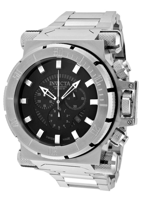 Invicta Men's 1938 Coalition Force Chronograph Black Dial Stainless Steel Watch