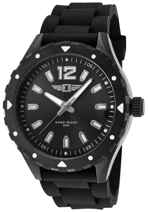 Men's Black Silicone and Dial