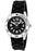 Men's Black Dial Black Textured Silicon